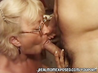 Mature woman boned for real