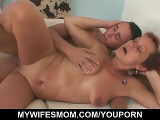 Young guy seduced by his wife's mom