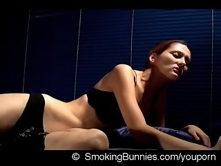 Glamour fetish smoking Movie with Sofy