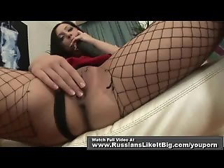 Babe in fishnet get great anal fuck 1of2