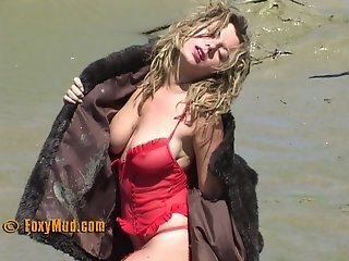 sexy girl in mud 1