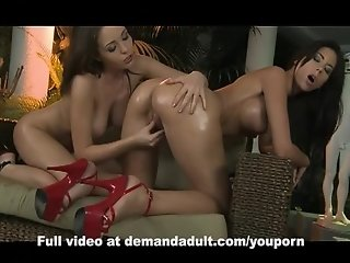Oiled up lesbians with juicy pussies