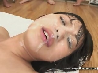 beauty japanese porn idol Kotomi Asakura gets facial Bukkake