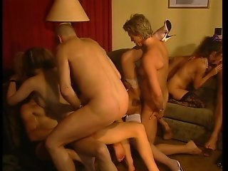 Crazy German gangbang