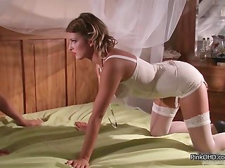 Italian beauty loves a big hard cock