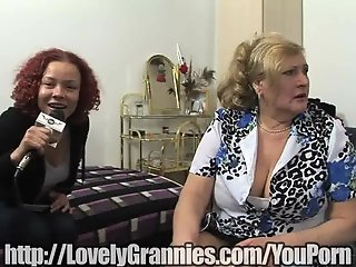 Mature granny gets a big dick in her pussy