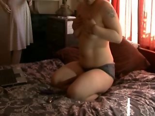 Chubby Ex Girlfriend with short hair cumming with vibrator