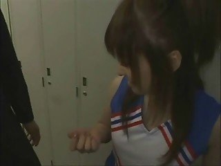 Japanese girl meets BF in dorm room
