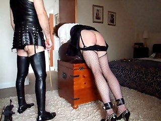 Elisabeth for a second and much harder caning