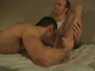 Hot hung daddy raw fucks gorgeous younger hunk