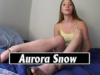 Young Aurora Snow Sucks Cock and Gets Fucked POV