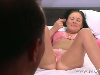 MOM Wife has a sexy surprise for her lover