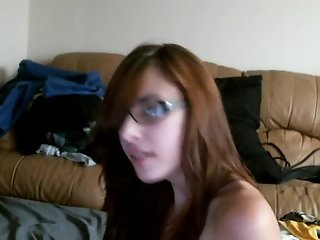 Nerdy Teen Webcam Blowjob