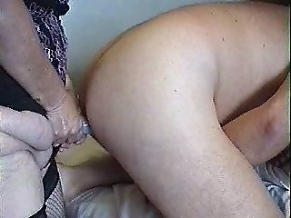 She fucks my as with a strapon then 2 hand anal fist