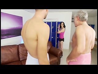 British slut Louise J gets fucked in a FMM threesome