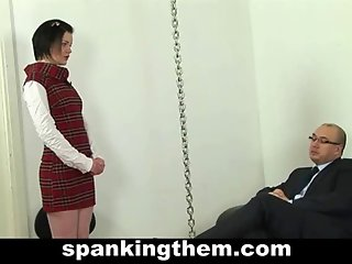 Spanking punishment for sexy lazy office girl