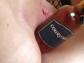 Beer bottle In Pussy2