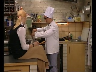 Hot Italian Blonde Fucked in Kitchen