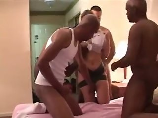 White wife hotel multiple creampies