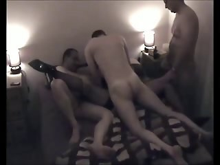 Rachel GangBanged and spunked up on the phone to hubby