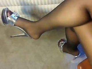 High heels and stockings