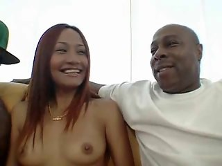 Pierced Asian Teen love fuck Black Monster