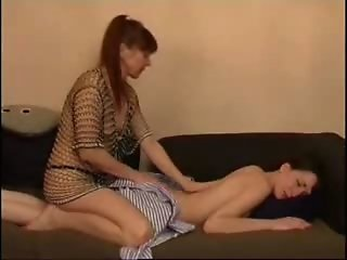 Mature And Young Lesbian Sensual Massage