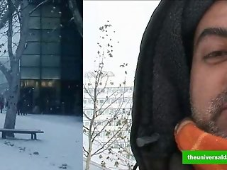 German daddy fucked on wintertime