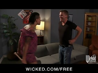 Wicked - Sexy brunette femdom Eva Angelina loves rough-sex