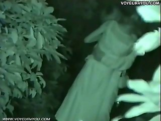 Infrared Camera Captured Public Park Sex