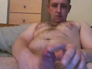 SEXY HAIRY DAD - BIG UNCUT DICK