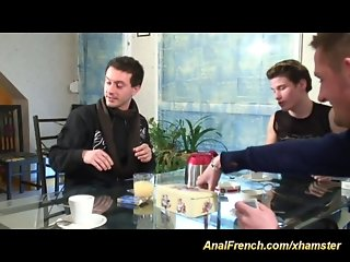 French anal DP party