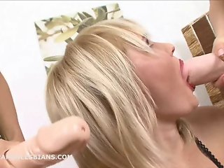 Iva has her asshole double penetrated by two strapon dildos