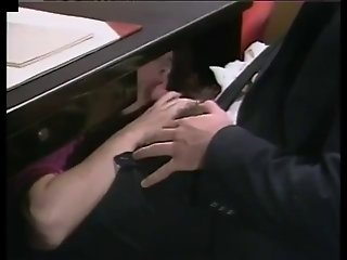 She gets fucked on her bosses desk