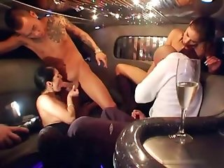 Group Sex - Fuck party in a limousine