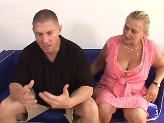 Fat Mature Woman and Young Boy