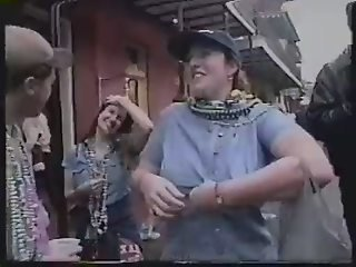 Mardi gras flasher showing tits for plastic fucking beads