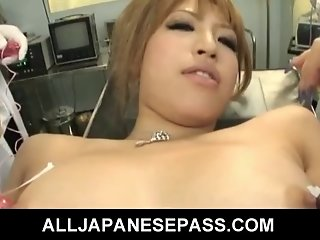 The doctor is in and this horny Japanese bitch
