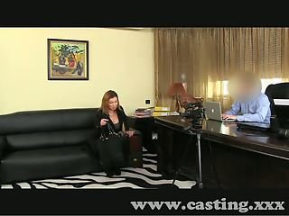 Casting Horny amateur sucks and fucks in interview