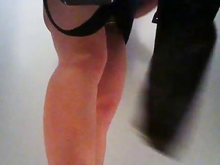 Hidden cam in pool cabin 16 - Shaved girl takes off thong