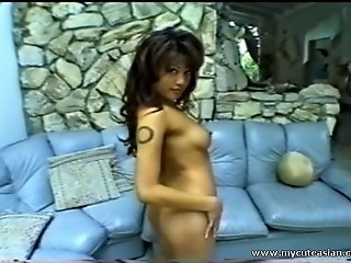 Hot Asian wild toy insertion!