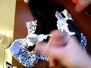 Cumming Over Panties Whilst Sniffing Another Pair