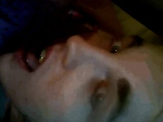Cute CD Tgirl cums on her own face
