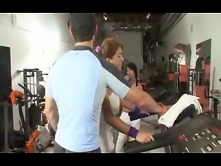 Gym Shemales Fuck Tgirl And Cum By twistedworlds