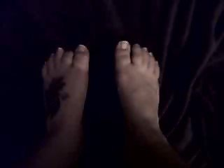 Chubby Friend make her first foot fetish video