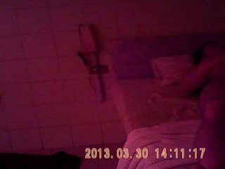 Sex in a thay body massage with hidden camera.