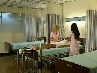 Two horny nurses in retro movie