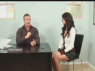 Busty Brunette And Her Boss Have A Break In Work