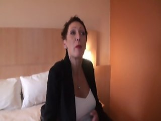 2 cocks for Carole, a french mature