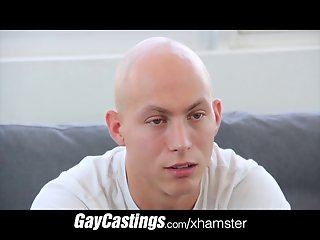 GayCastings hairless erotic dancer gets smooth firm ass load